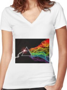 Pink Floyd – The Dark Side Of The Moon Women's Fitted V-Neck T-Shirt