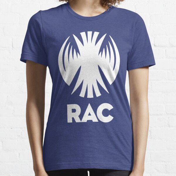 RAC Crest in White- Reclamation Apprehension Coalition Essential T-Shirt