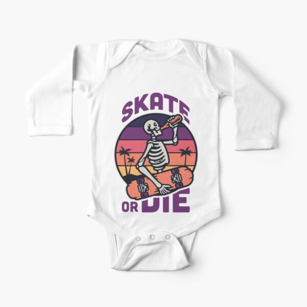 Skate y cervezas Body de manga larga para bebé