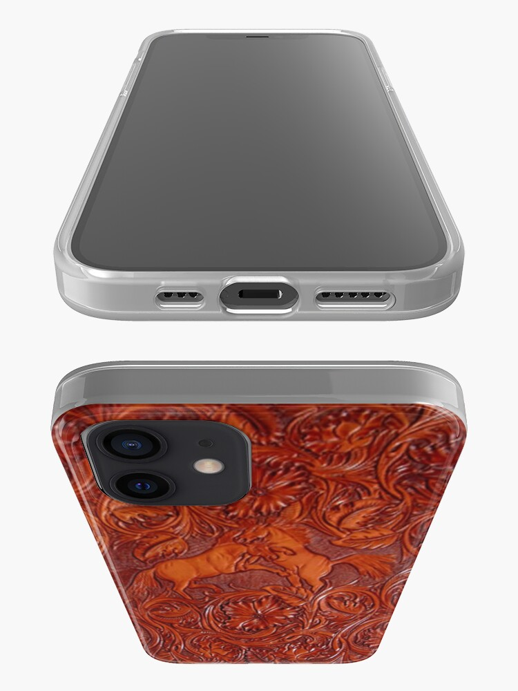Alternate view of wild horses leather iPhone Case & Cover