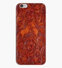 wild horses leather iPhone Case