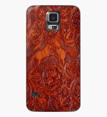 wild horses leather Case/Skin for Samsung Galaxy