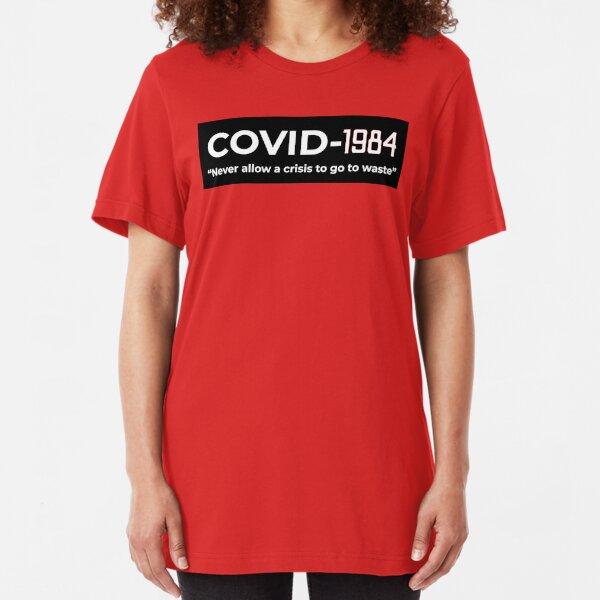 Covid-1984 Slim Fit T-Shirt