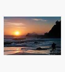 Morning comes to Nobbys Beach Photographic Print