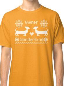 Wiener Wonderland in Festive Red - Dachshund Sausage Dog Classic T-Shirt