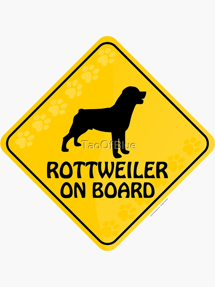 Rottweiler On Board by TaoOfBlue