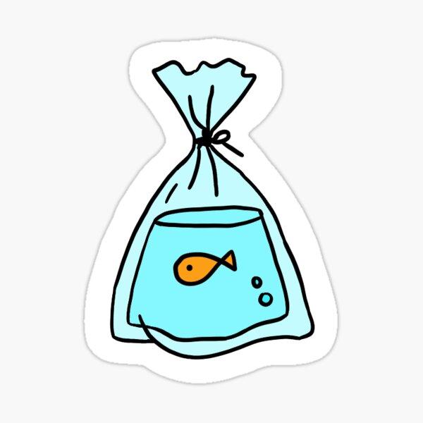 goldfish in a bag Sticker