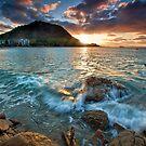 Mauao Sunset Drift Line by Ken Wright