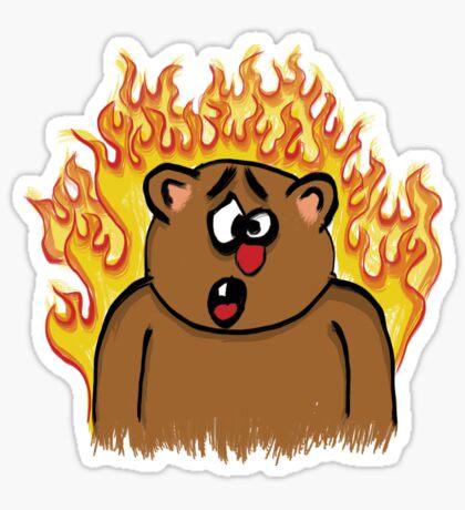 BEAR FIRE! Sticker
