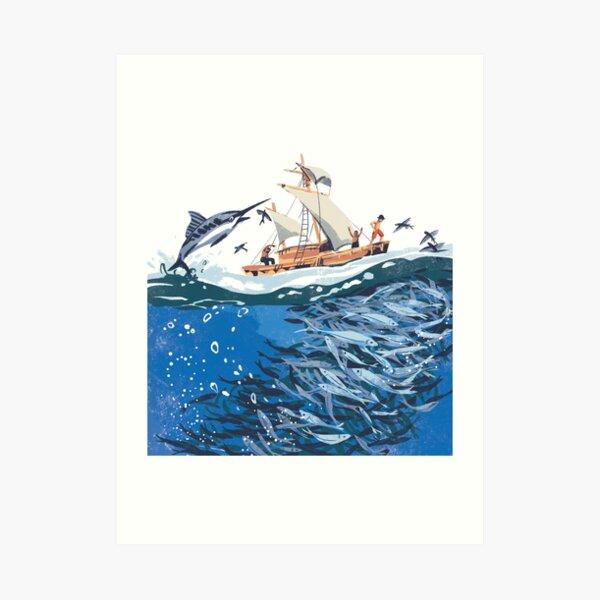 Sea fishing  Art Print