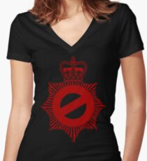 Not My Division - Badge Only Edition Women's Fitted V-Neck T-Shirt