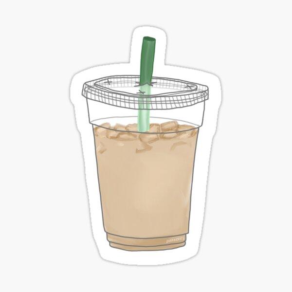 café helado Pegatina
