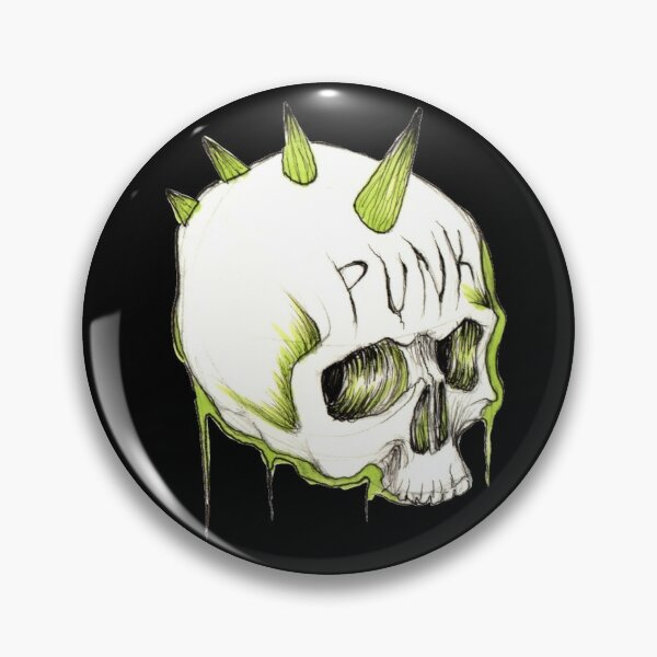 Skull PUNK sticker Pin