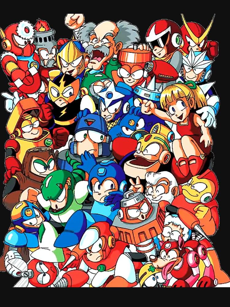 Mega Man 1, 2, and 3 Robot Masters by infiniterivals