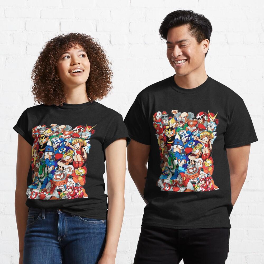 Mega Man 1, 2, and 3 Robot Masters Classic T-Shirt