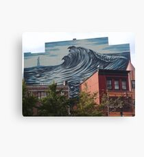 Large Mural, Grove Street, Jersey City, New Jersey Canvas Print