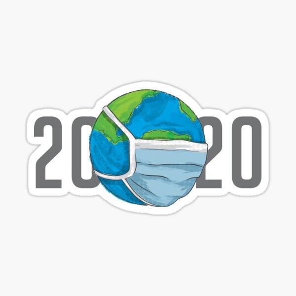 2020 en máscaras Pegatina