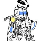 Biker Badger by Chris Jackson