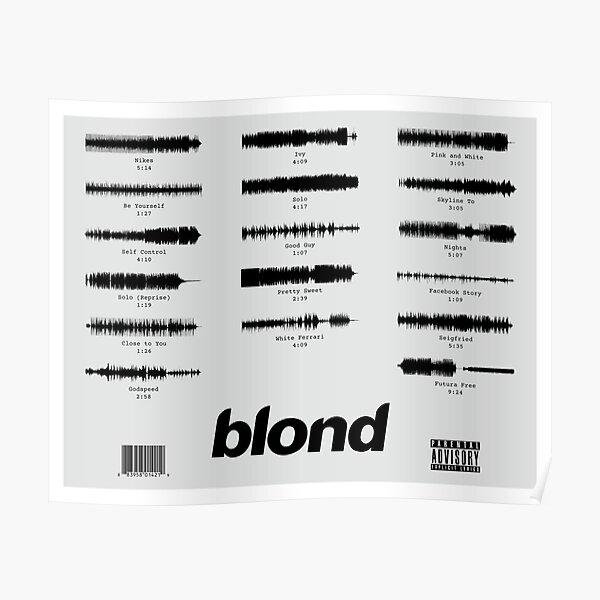 Blond Waveform Poster