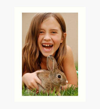 bunny delight Art Print
