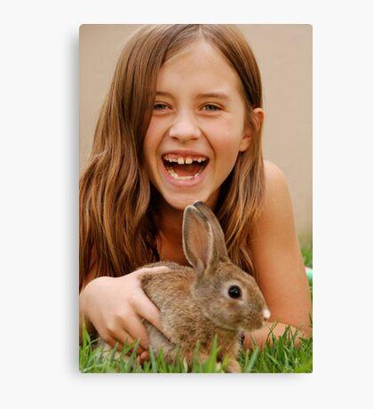 bunny delight Canvas Print