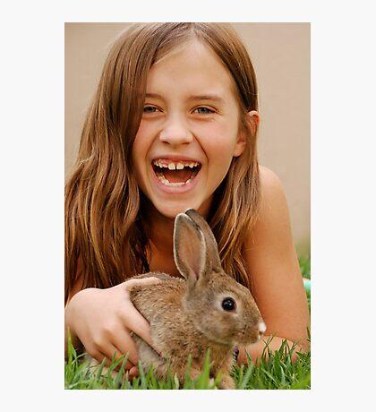 bunny delight Photographic Print