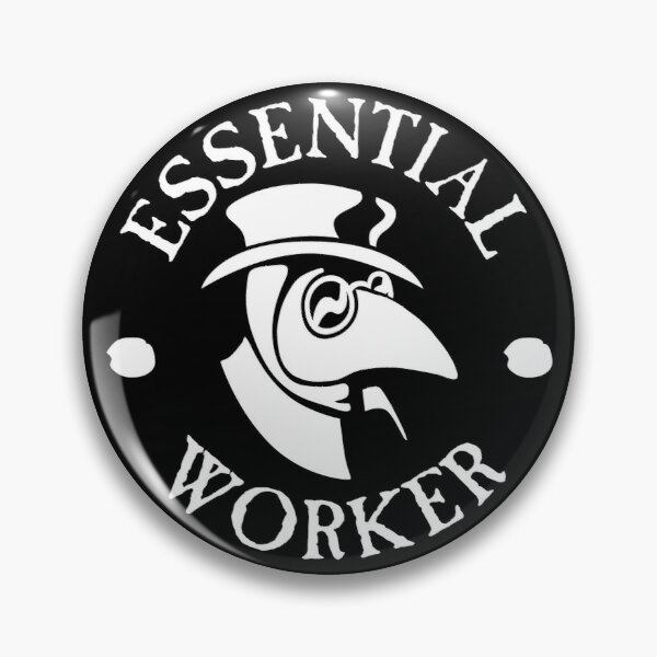 Essential Worker Plague Doctor Pin