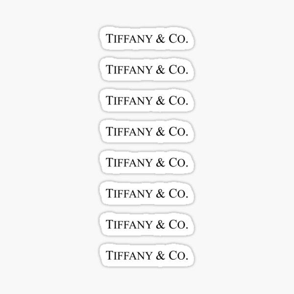Paquete de pegatinas con el logo de Tiffany & Co. Pegatina