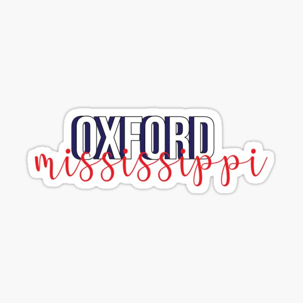 oxford, mississippi  Sticker