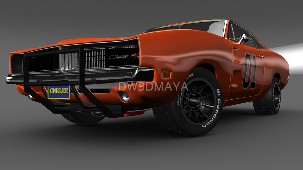 General Lee Car Dukes of Hazzard 2969 Dodge Charger by DW3DMAYA