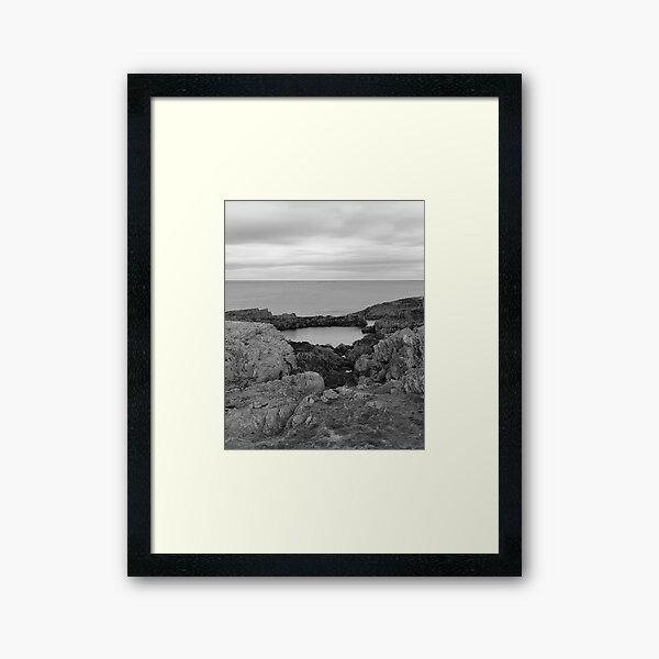 Findochty Coast: Rockery Framed Art Print