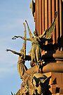 Pedestal detail, Columbus monument. Barcelona by David Carton