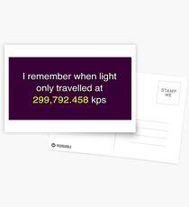 E=MC2  ?       Light Speed Tee (metric) Postcards