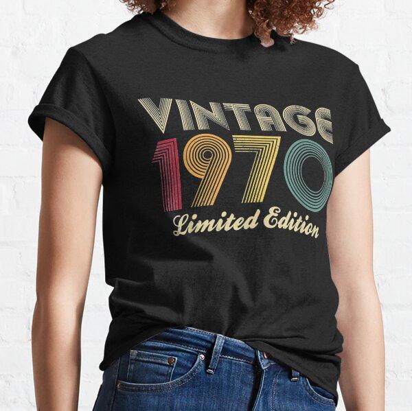 1970 50.o regalo de cumpleaños Vintage Edición limitada Hombres Mujeres Camiseta clásica