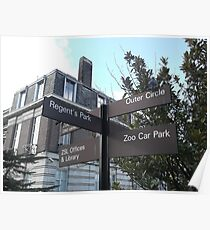 London Zoo/Directional Signs -(190212)- digital photo Poster