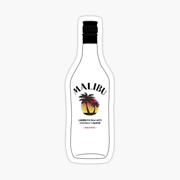 Malibu Bottle Sticker