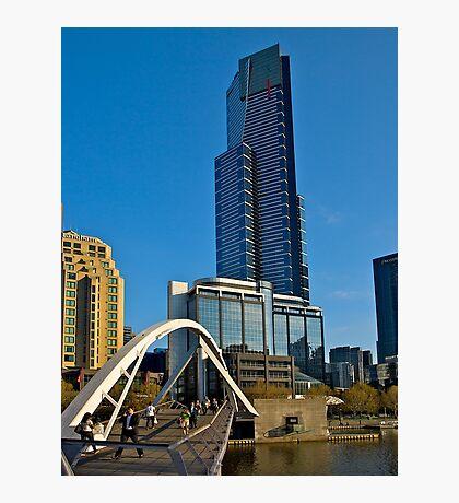 Eureka Tower, Yarra River Footbridge, Melbourne. Photographic Print