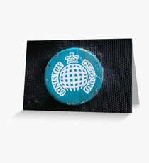 Rusted Ministry of Sound Badge Super Focused. Greeting Card