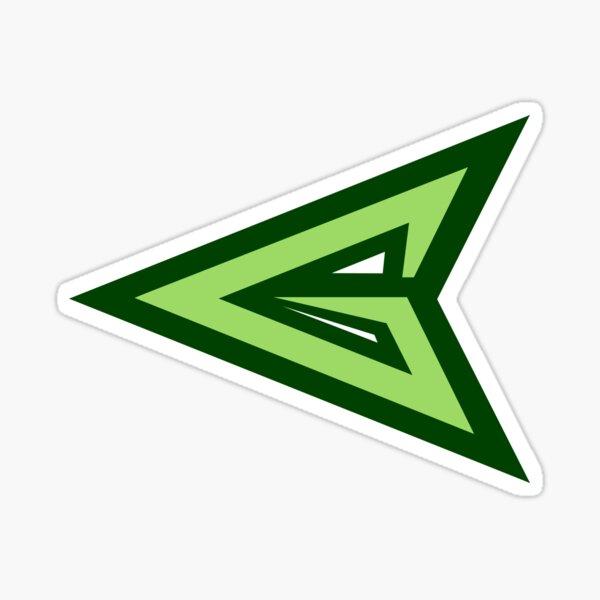 logotipo de flecha verde Pegatina