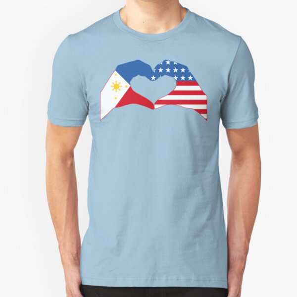 We Heart Philippines & USA Patriot Flag Series Slim Fit T-Shirt