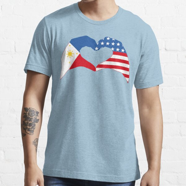 We Heart Philippines & USA Patriot Flag Series Essential T-Shirt