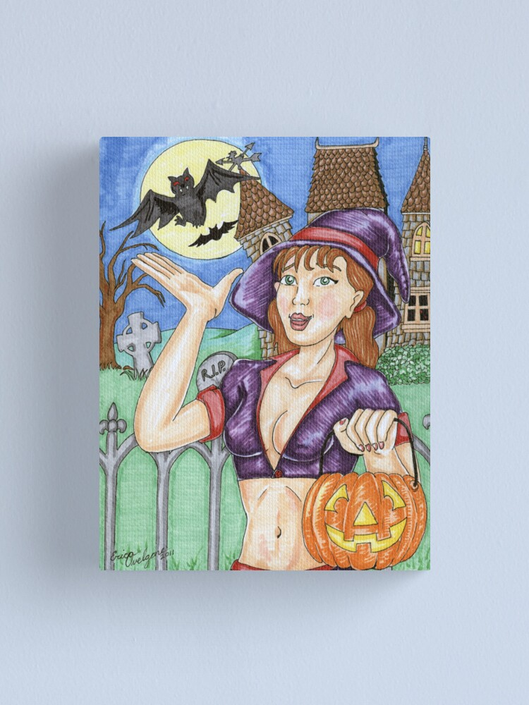 Alternate view of Trick Or Treat Witch 2011 Canvas Print