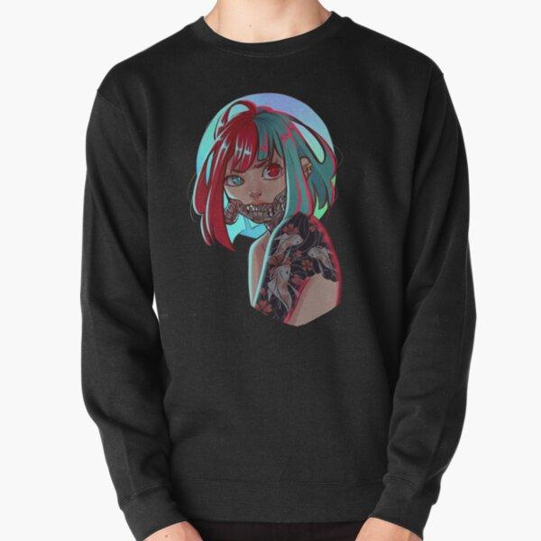Sumire no itami // Cyberpunk Girl Pullover Sweatshirt