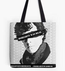 #believeinsherlock Propaganda  Tote Bag