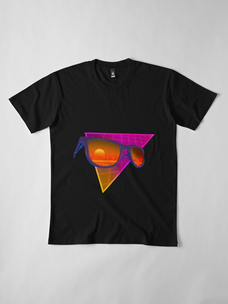 Alternate view of Sunglasses in space (Purple) Premium T-Shirt
