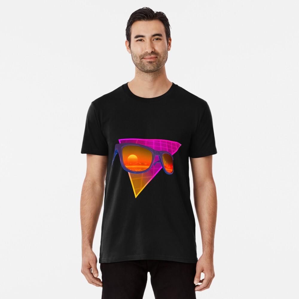 Sunglasses in space (Purple) Premium T-Shirt
