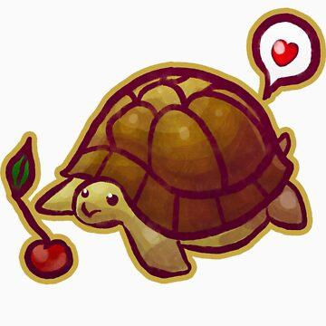 Cherry Turtle T-shirt von SaradaBoru