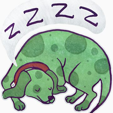 Sleepy Green Puppy T-shirt von SaradaBoru