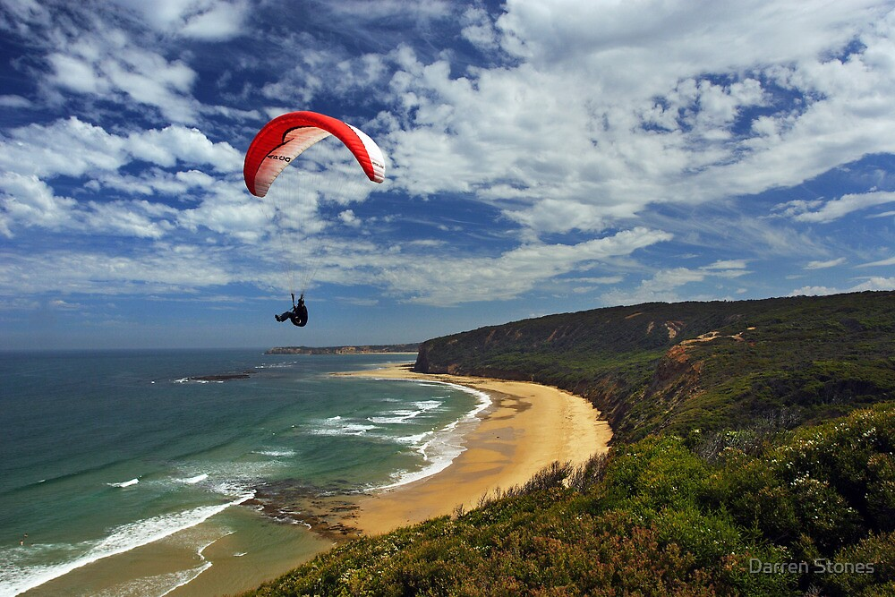 Paragliding at Torquay by Darren Stones
