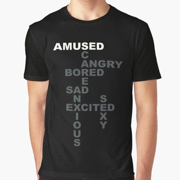 Giggles' Westworld Mood Shirt: AMUSED Graphic T-Shirt